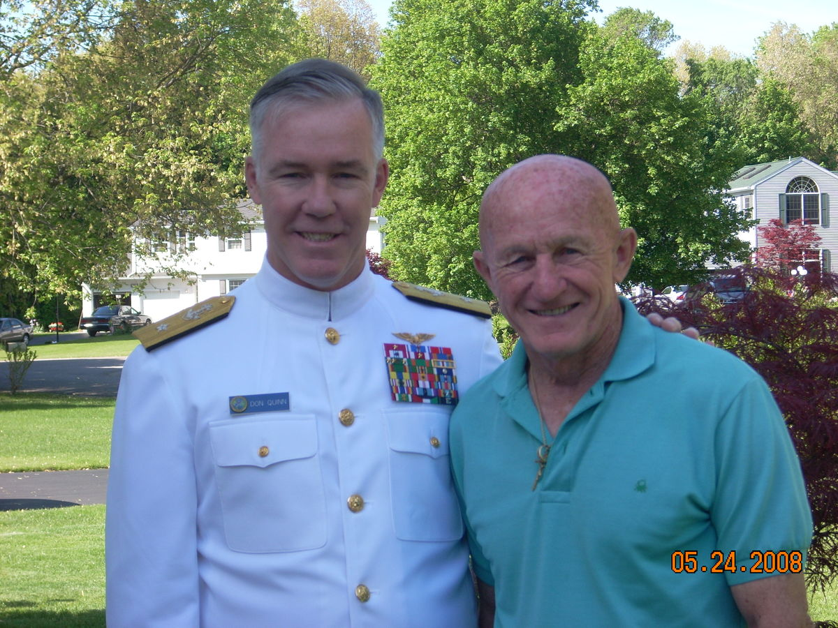 Rear Admiral Quinn with his father