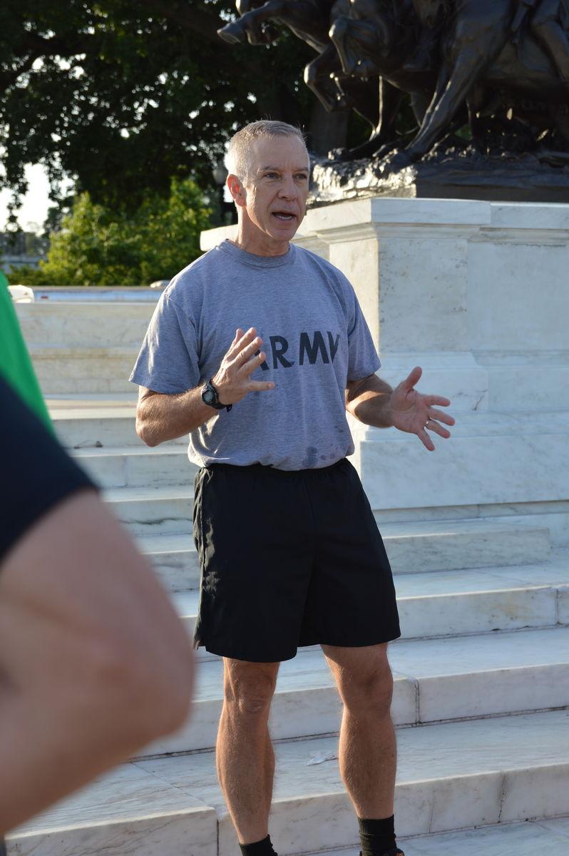 Lt. Gen. Thomas Spoehr at Run with General