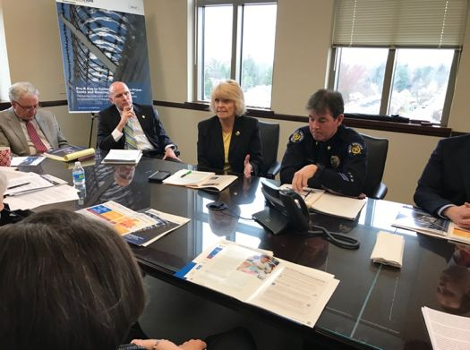 A community roundtable in West Chester on April 3, 2018 with area state legislators and other local officials regarding the importance of investing in high-quality pre-k.