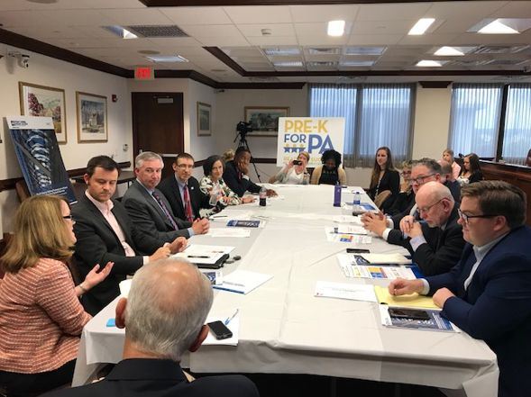 Montgomery County DA Kevin Steele and the County Commissioners hosted Fight Crime: Invest in Kids for a pre-k community roundtable with state legislators and other local officials in Norristown on June 7, 2018.