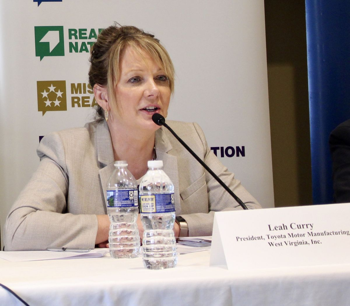 Leah Curry, President of Toyota Motor Manufacturing West Virginia Inc;