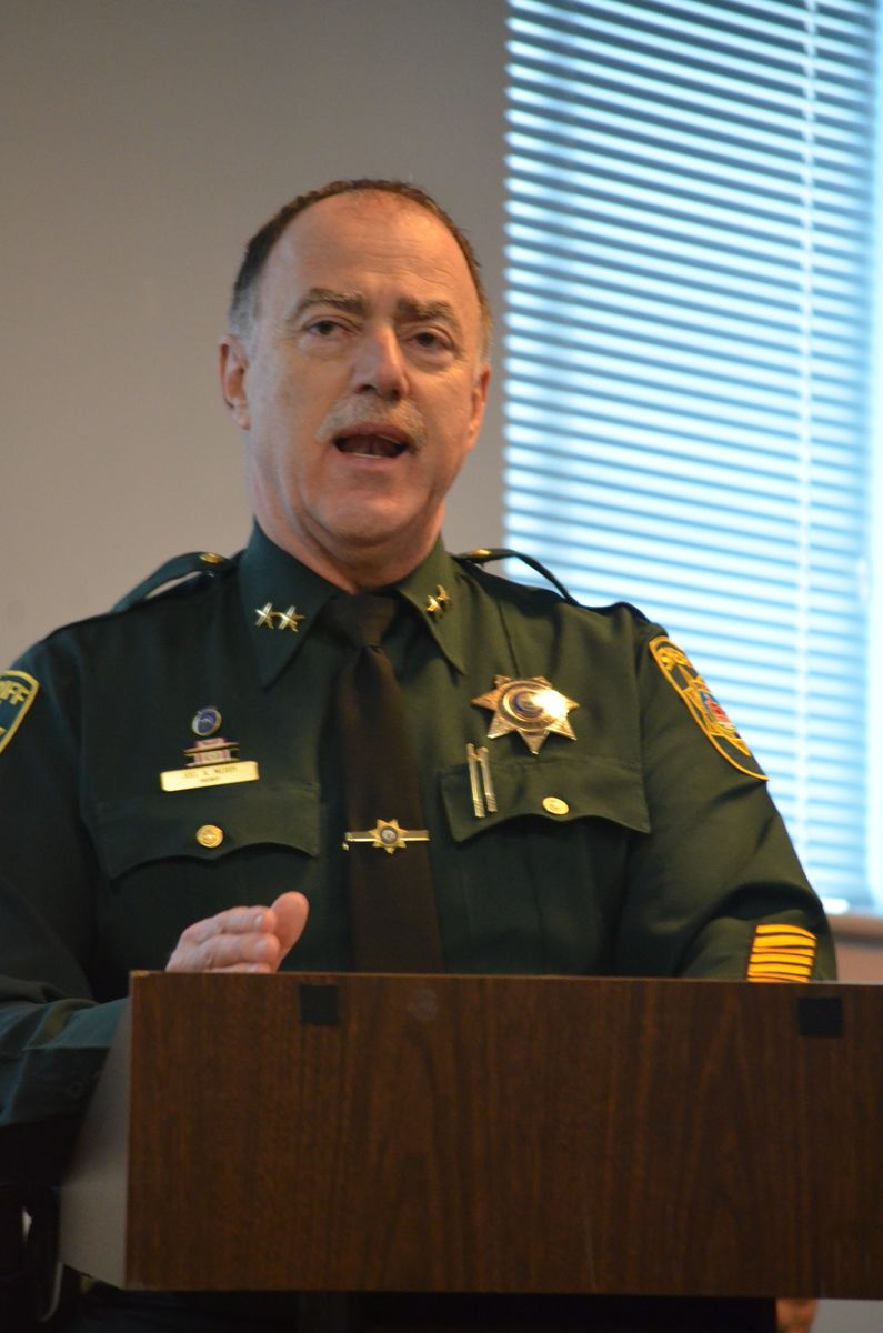In 2015, Sheriff Joel Merry, then President of the Maine Sheriffs Association, testified before the Judiciary Committee on fingerprinting as part of the comprehensive background check for all employees at licensed child care facilities.