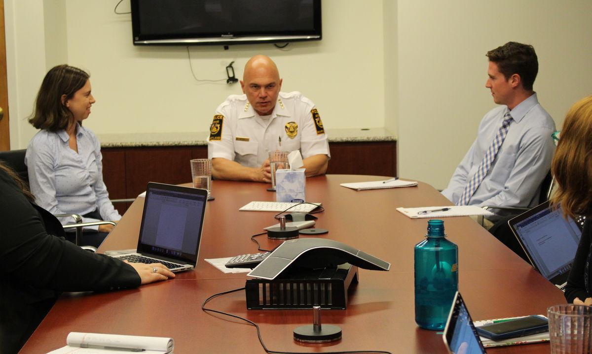 Chief Nesky talks at CSA brown bag