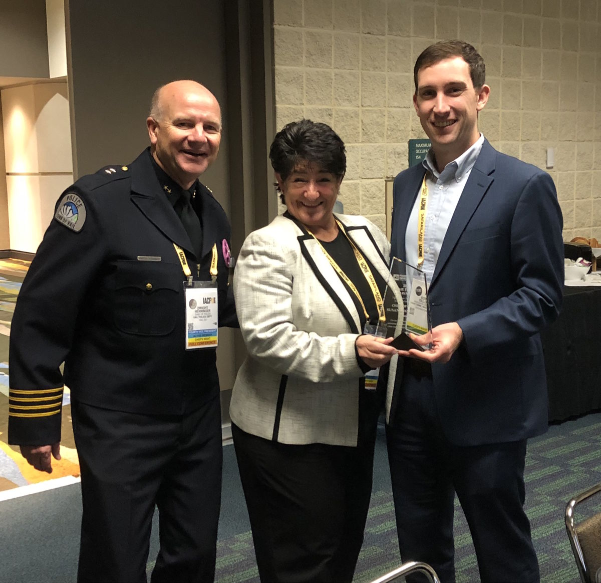 Chief Manheimer receives a 2018 Crime Fighter Award