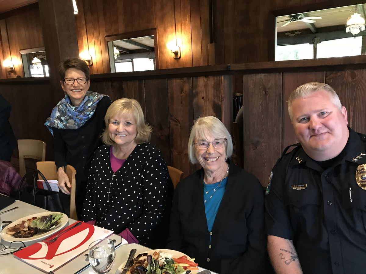 Laurie Lippold, Partners for Our Children, Washington's First Lady Trudi Inslee, Rep. Ruth Kagi, and Raymond Police Chief Chuck Spoor