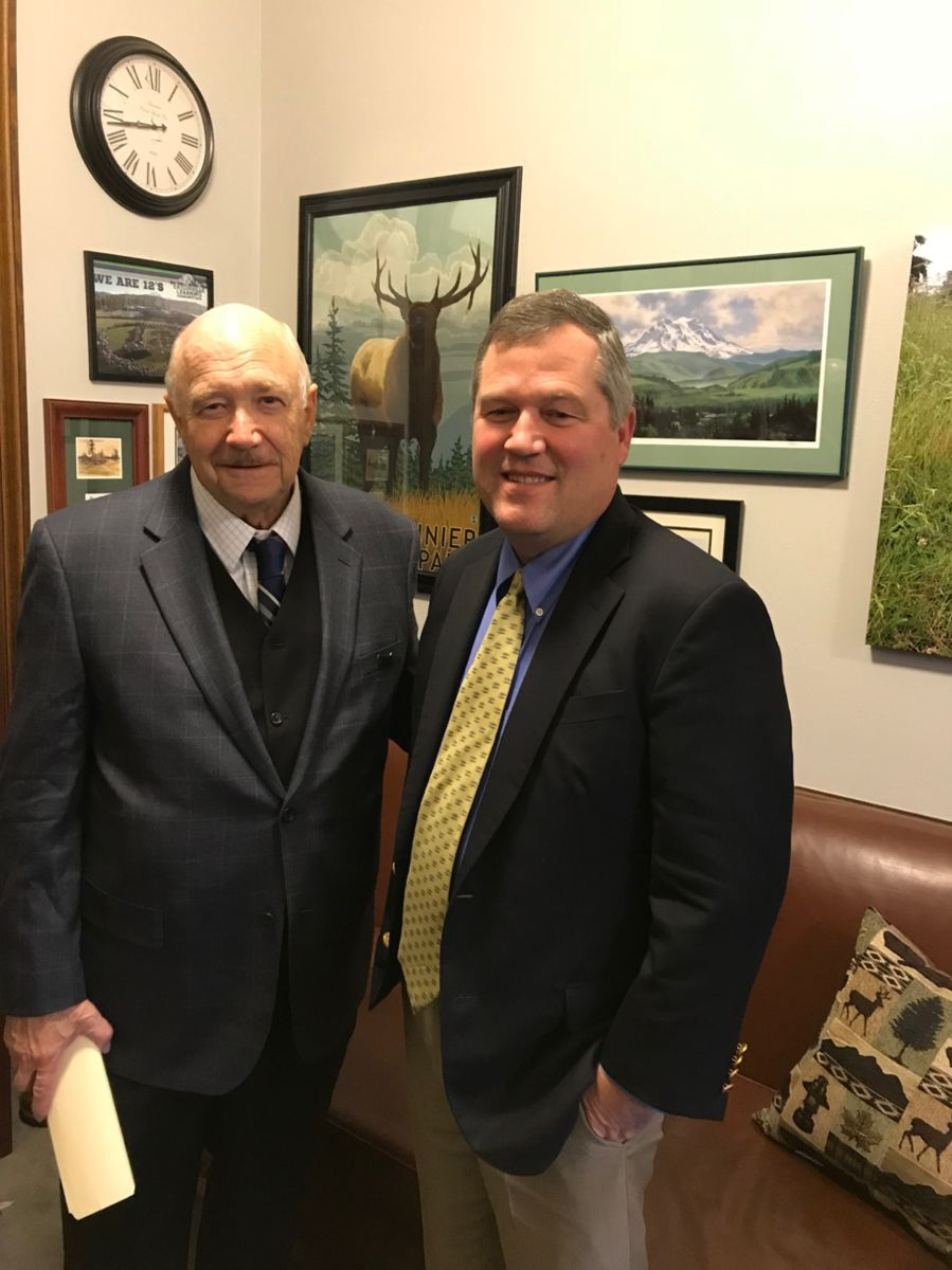 ReadyNation member Mike Edwards met with Rep. J.T. Wilcox, R 2nd LD, Minority Leader