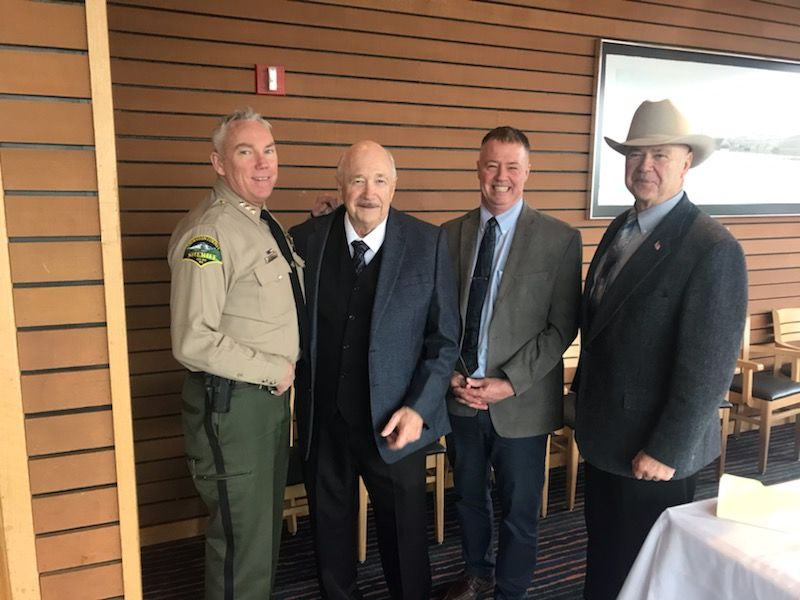 Fight Crime: Invest in Kids member Sheriff John Snaza, ReadyNation member Mike Edwards, retired U.S. Army Lt. Col. Bud Blake represents Mission: Readiness, and Thurston County District 2 Commissioner Gary Edwards