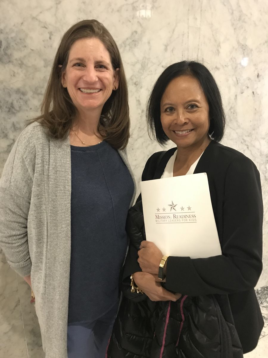 Rear Admiral (Ret.) Eleanor Valentin thanked Washington State Rep. Tana Senn for her leadership on behalf of our youngest learners as Chair of the Human Services & Early Learning Committee.