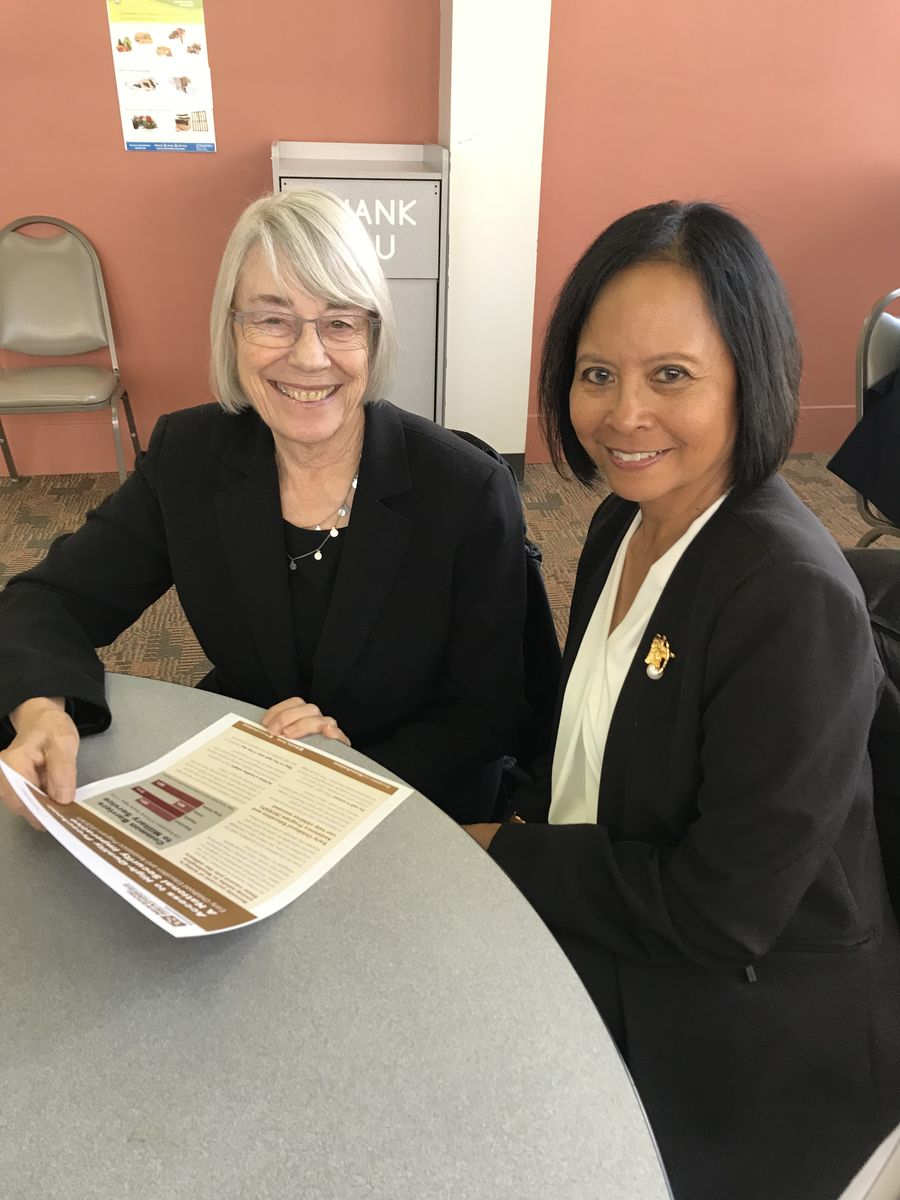 Rear Admiral (Ret.) Eleanor Valentin met with Ruth Kagi, former Washington State Representative and Chair of the House Early Learning Committee, to discuss ECEAP and to thank her for 20 years of service in the legislature and now as an advocate.