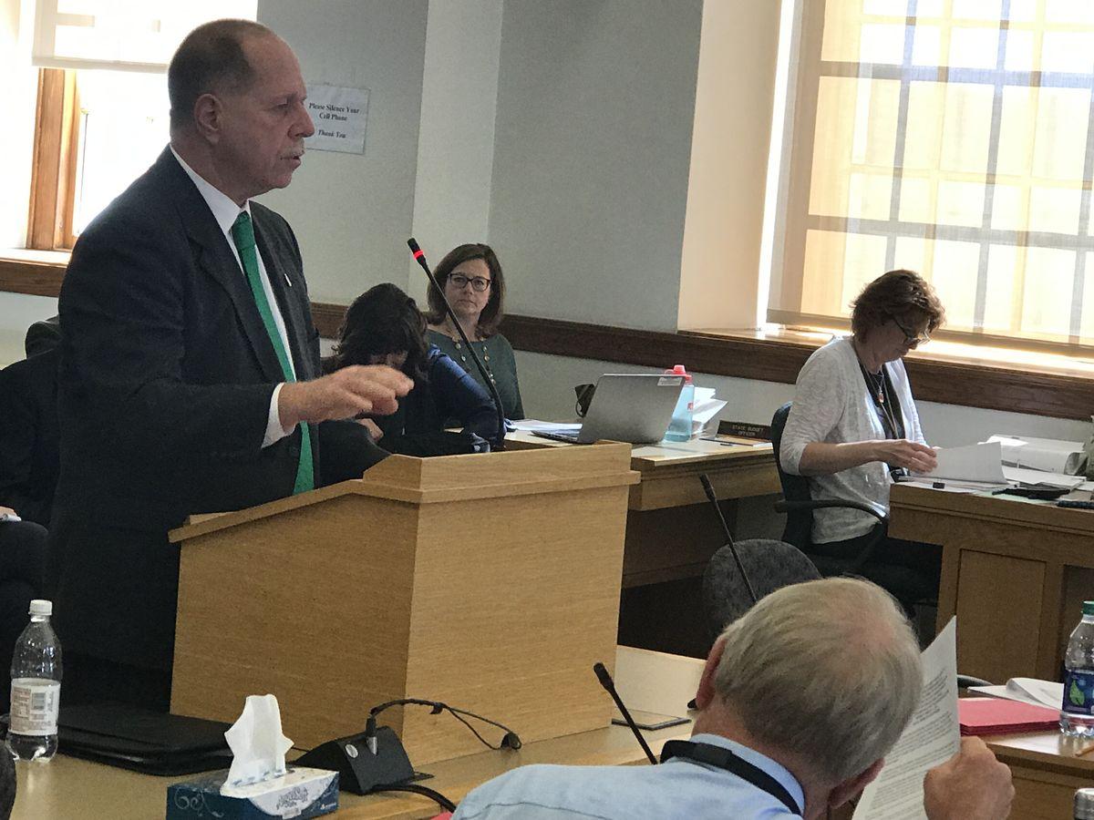 Cumberland County Sheriff Kevin Joyce testifies in support of prek funding