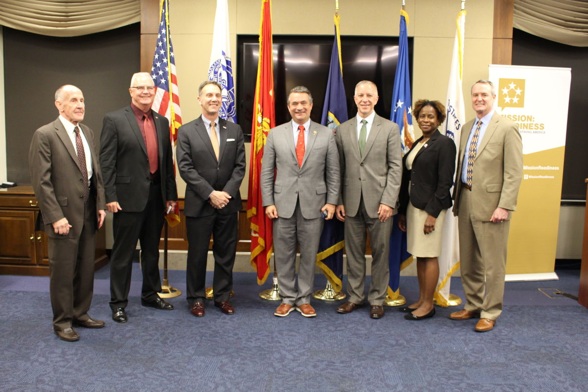 Mission: Readiness members with Rep. Don Bacon, who is also a retired Brigadier General
