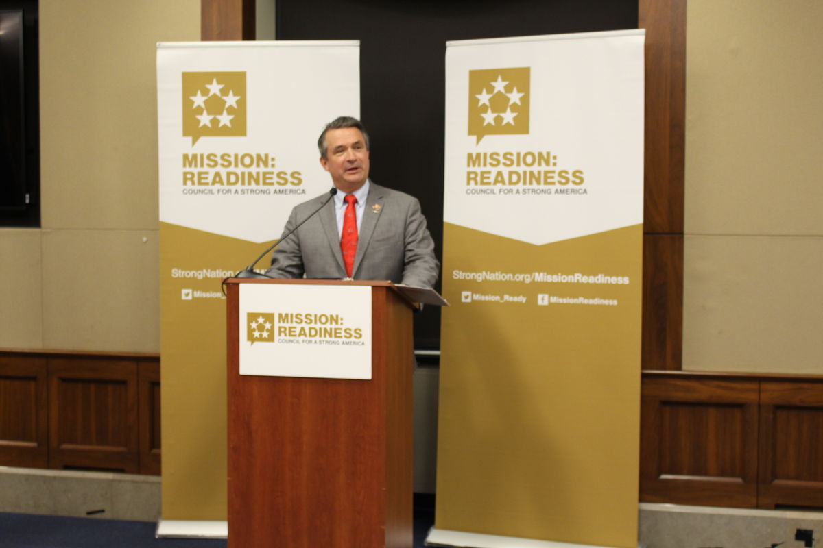 Rep. Don Bacon (R-NE) speaks during Mission: Readiness Capitol Hill reception