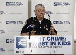 Fight Crime: Invest in Kids member Sheriff Wayne Risney, Ashland County Sheriff speaking at press conference to release new report