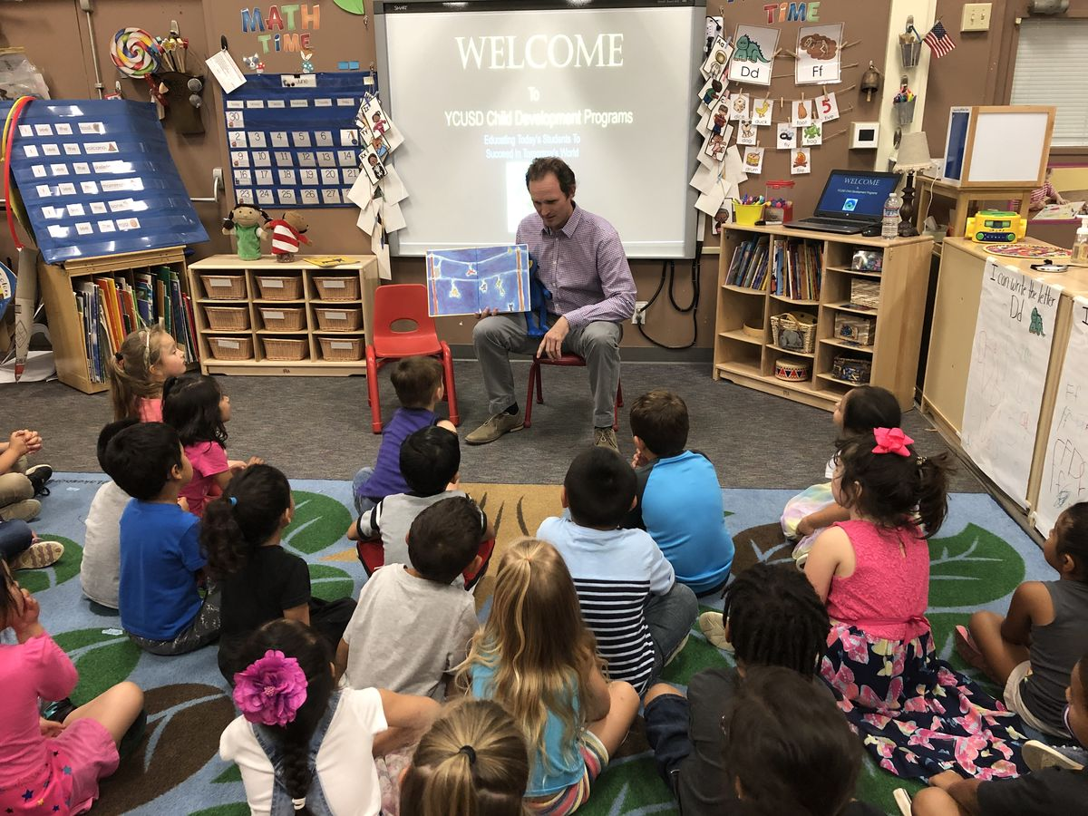 Assemblymember James Gallagher Reads to Preschool Students at Bernard Children's Center in Yuba City