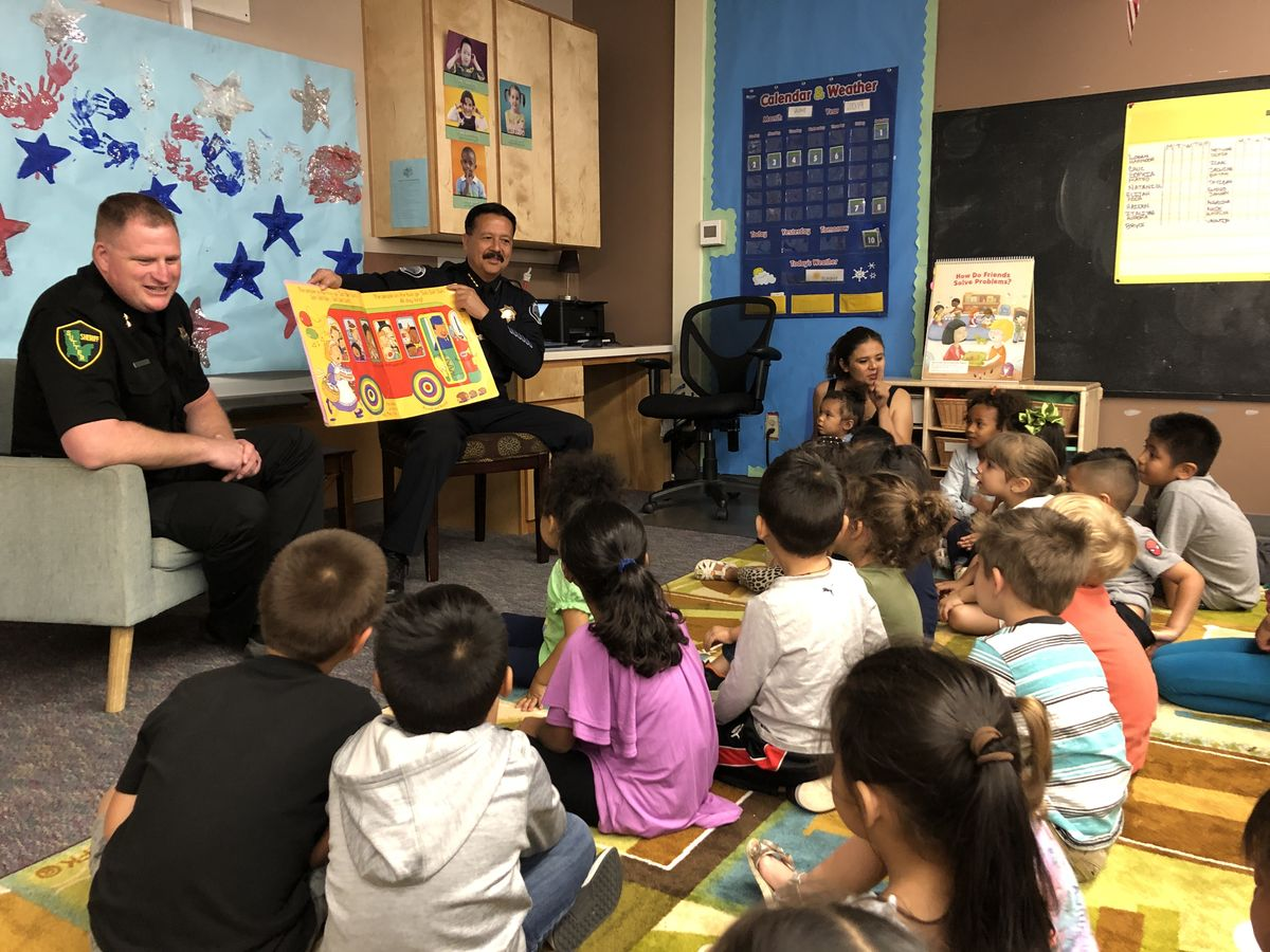 "Sutter County Undersheriff, Yuba City Police Chief Read ""Wheels on the Bus"" to Preschool Students at Bernard Children's Center"
