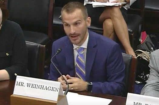 ReadyNation member Jonathan Weinhagen testifies before the House Committee on Small Business.