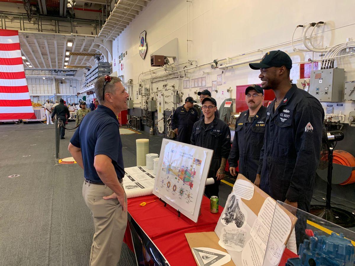 CA MR STEM Blog_Adm Rodman and USS America crew