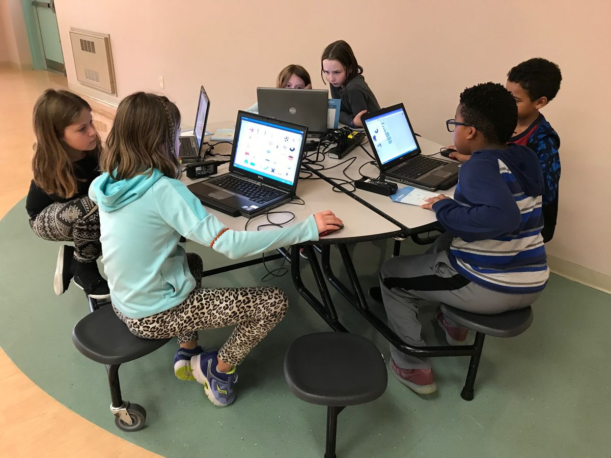 Students in the Delaware 4-H program learn scratch coding