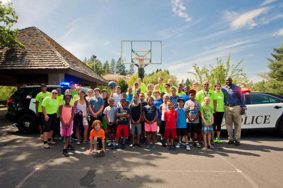 Participants from Police Activity League program in Spokane, Washington