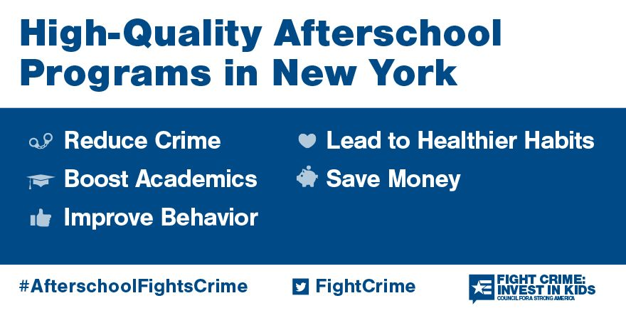 Quality afterschool programs in New York