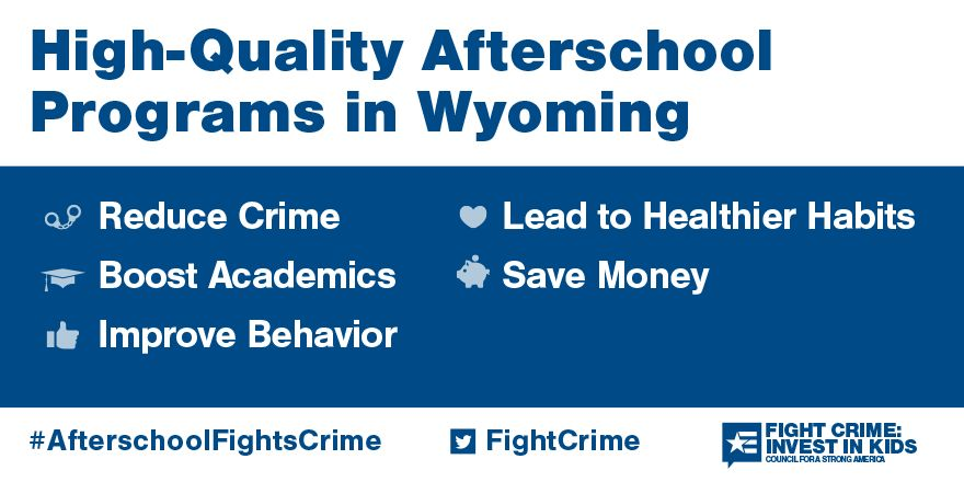 Quality afterschool programs in Wyoming