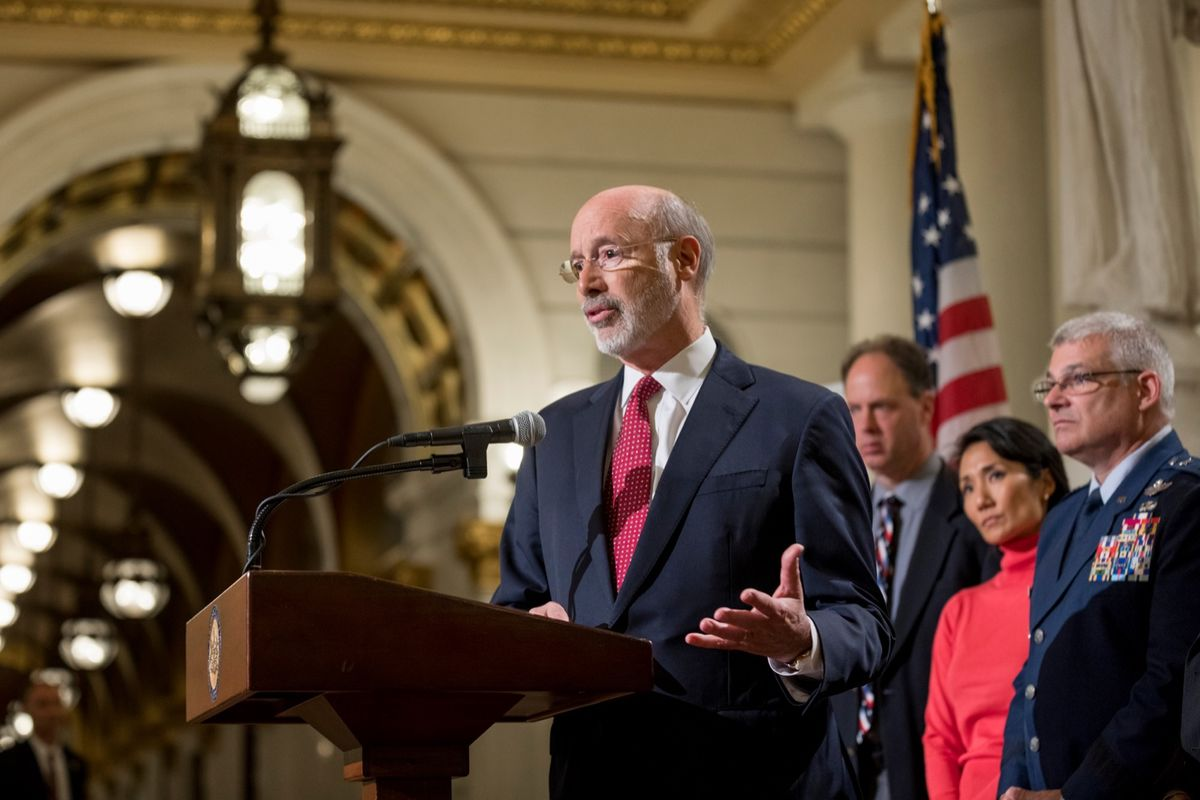 Pennsylvania Governor Wolf speaks at Mission: Readiness 10th Anniversary Event