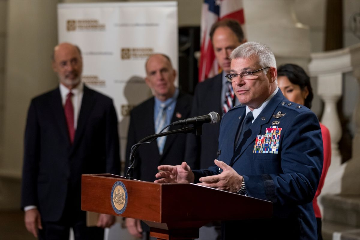 Pennsylvania Adjutant General Carrelli speaks at Mission: Readiness 10th Anniversary event