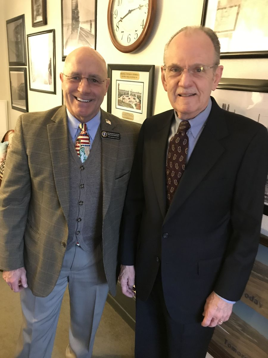 Rep. Brad Klippert, member of the House Human Services & Early Learning Committee, and David Graybill discussed the importance of family.