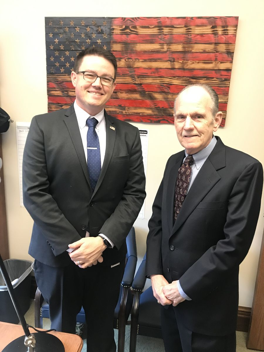 Rep. Chris Corry, member of the House Human Services & Early Learning Committee, and David Graybill discussed the importance of investing in our working families and future workforce.