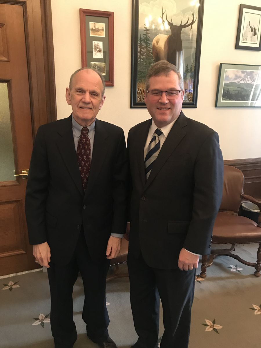 David Graybill and Rep. JT Wilcox, Minority Leader of the House of Representatives discussed the importance of access to affordable high quality early learning.