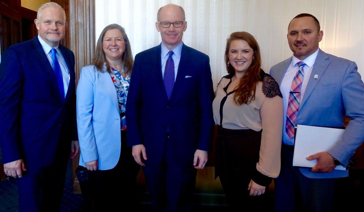 ReadyNation Illinois members with Senate President Don Harmon.