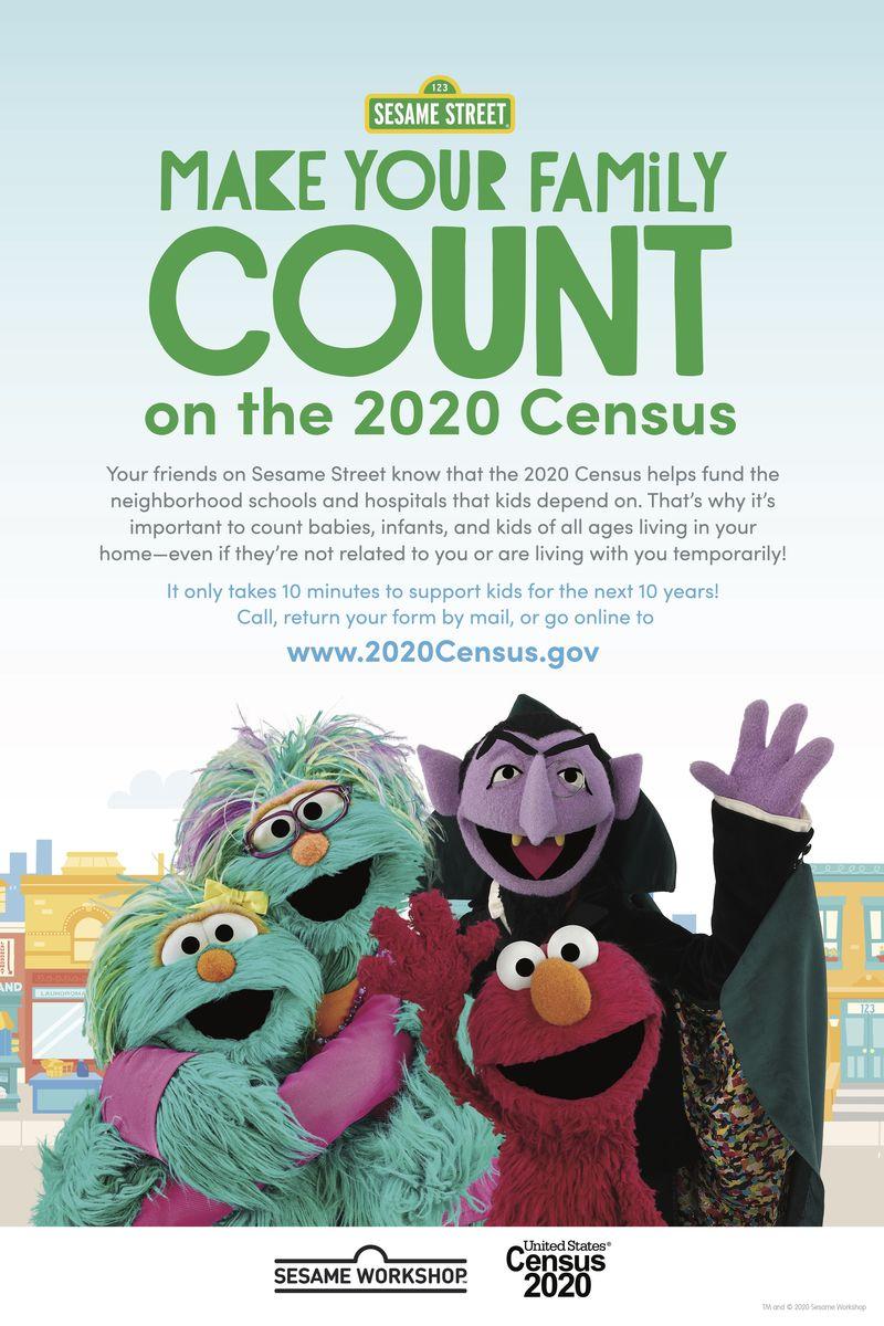 Sesame Street census poster
