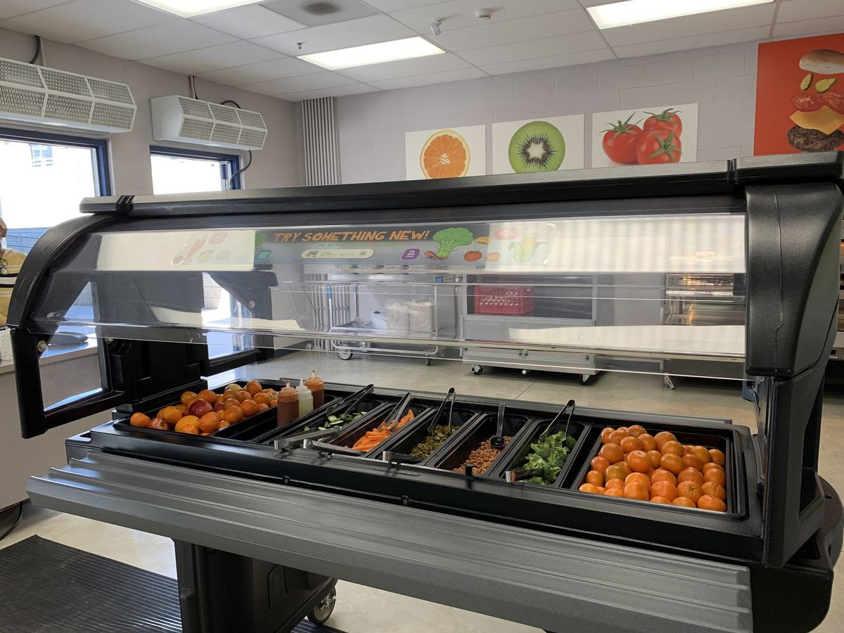 Fruit and Vegetable stand at Clark Elementary School