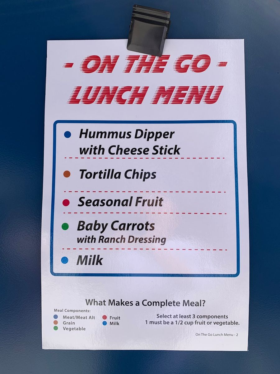 On-the-go lunch option at Clark Middle School