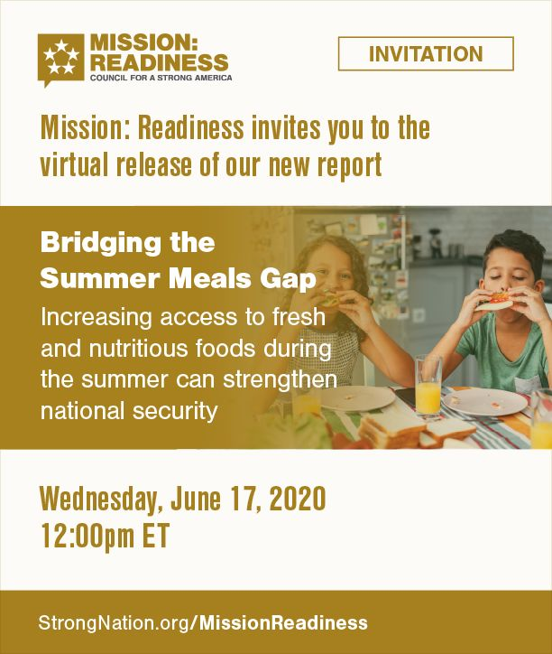 Invitation for 2020 M:R Summer Meals Report Release