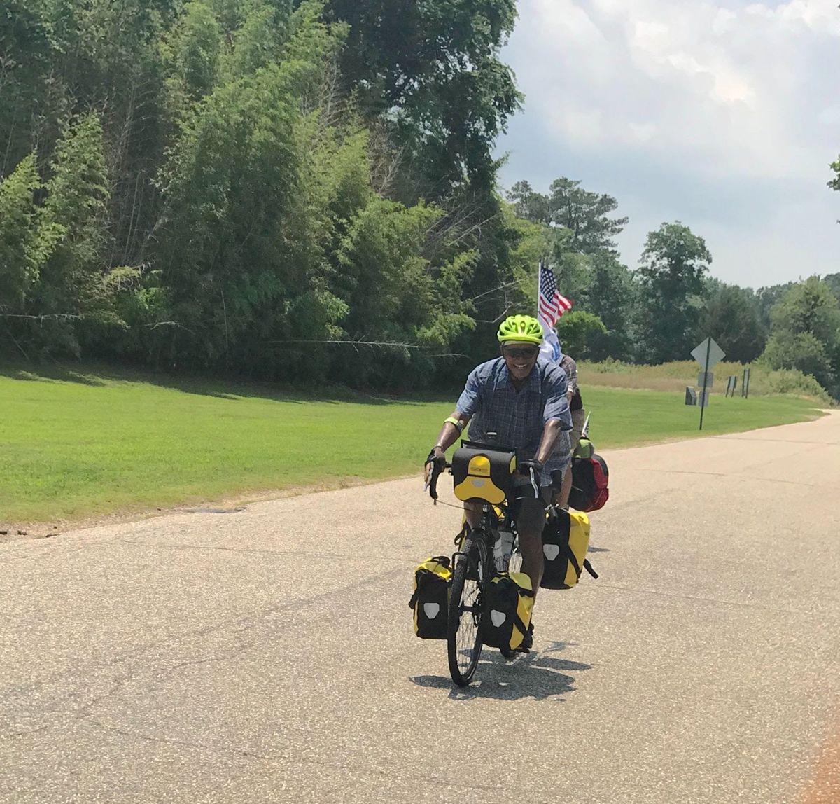 Admiral Brown on a bike