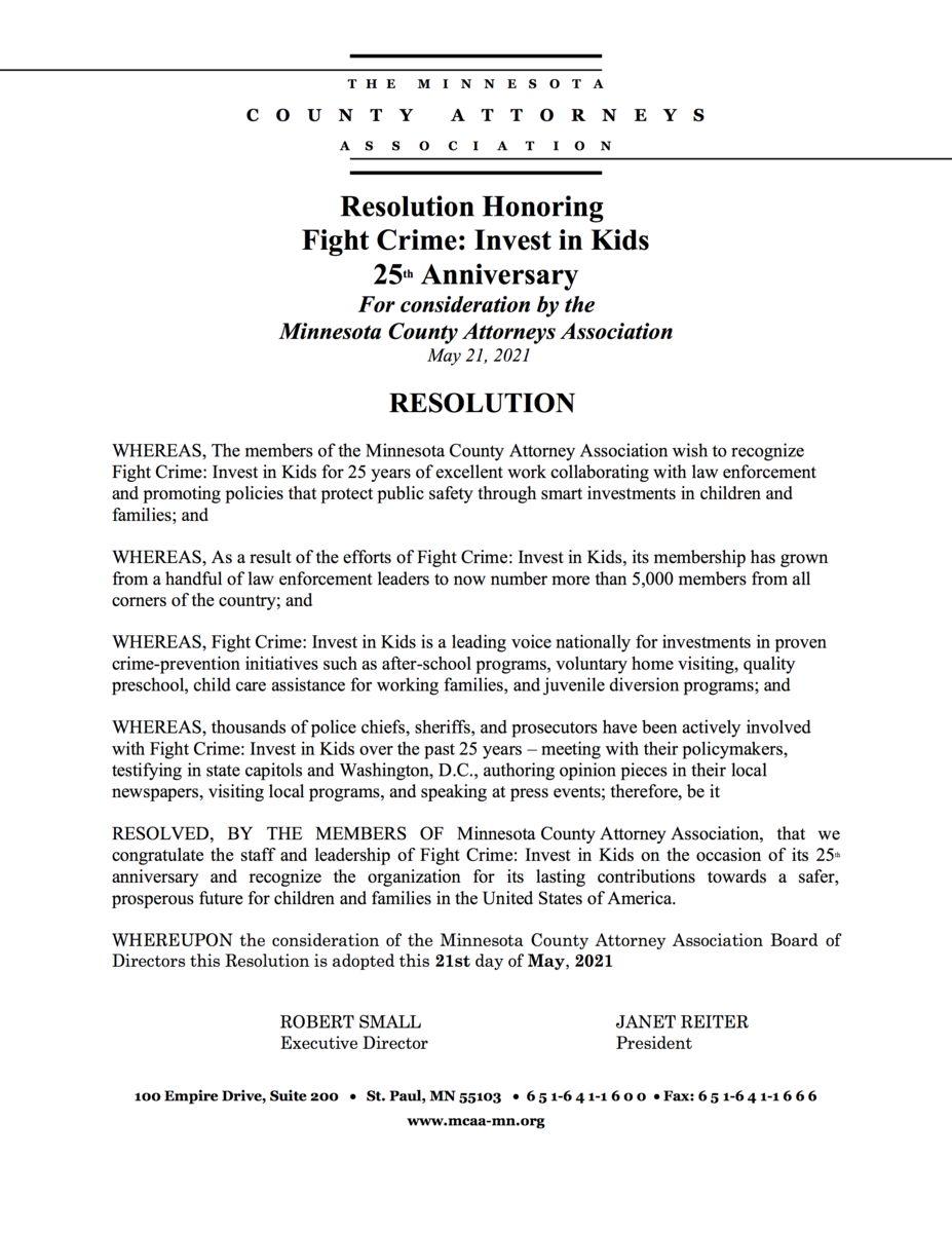 Minnesota County Attorneys Resolution