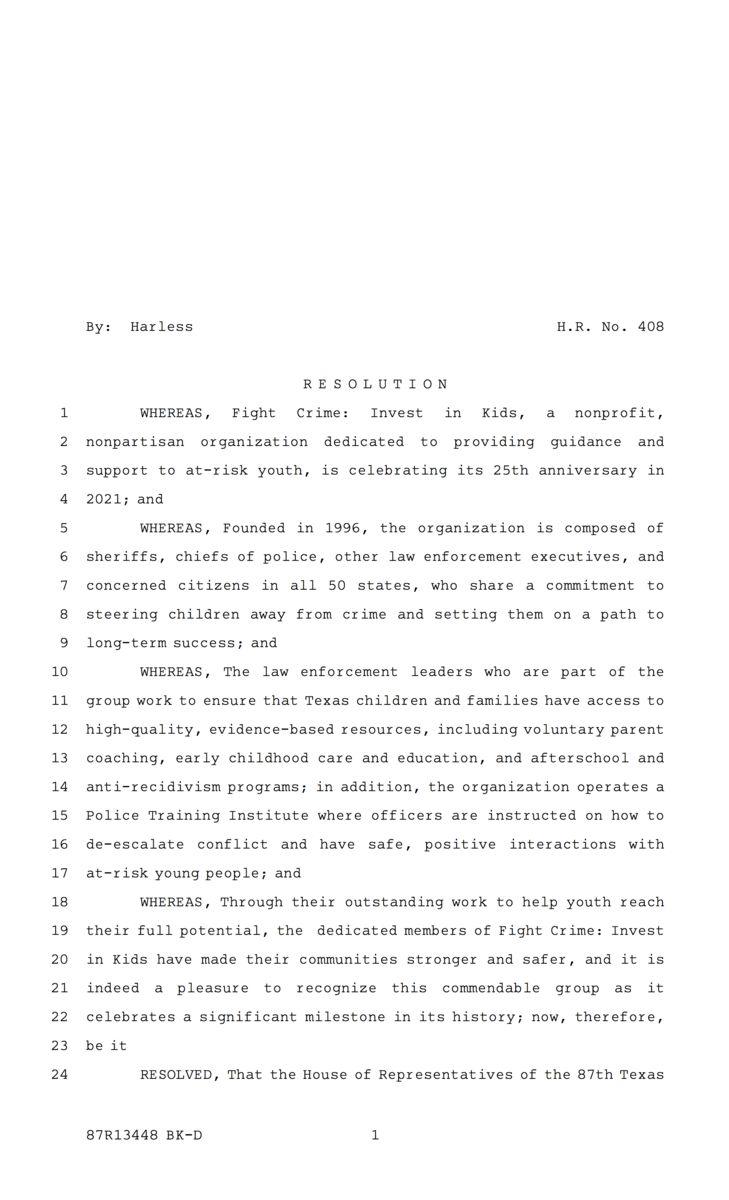 Texas Resolution