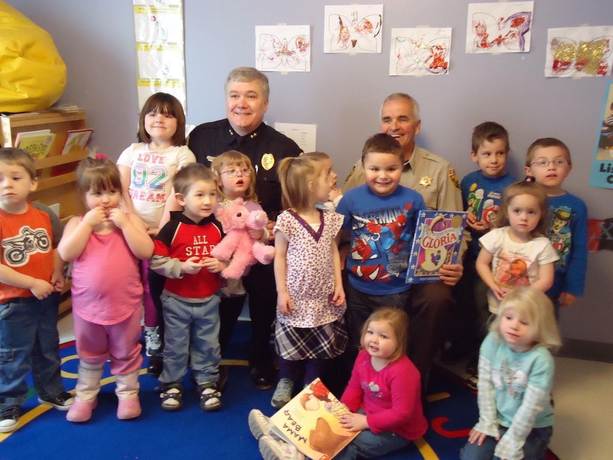 Houlton Maine Cops & Tots from 2010 - former Chief Butch Asselin and former Aroostook County Sheriff Jim Madore