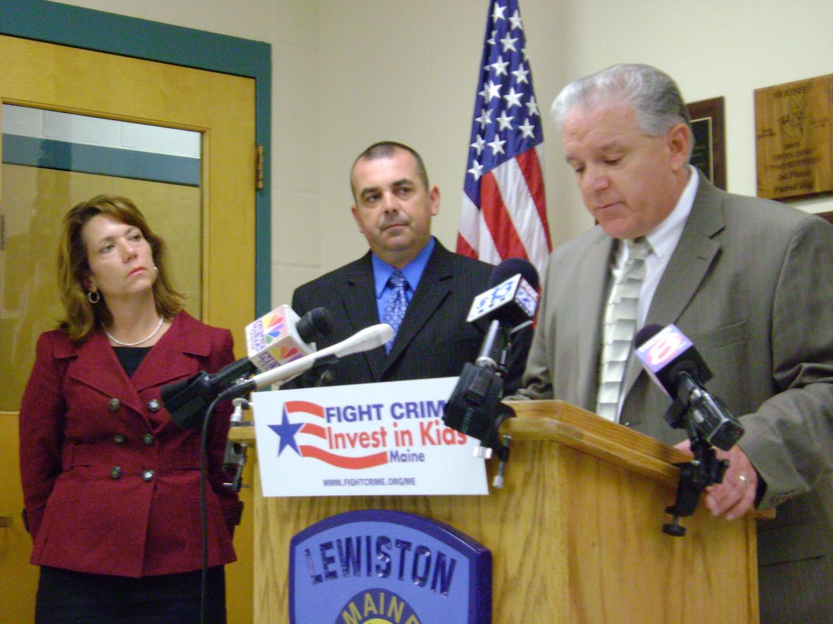 July 14, 2009: Lewiston Maine press conference on increasing the federal CTC with former Androscoggin County Sheriff Guy Desjardins