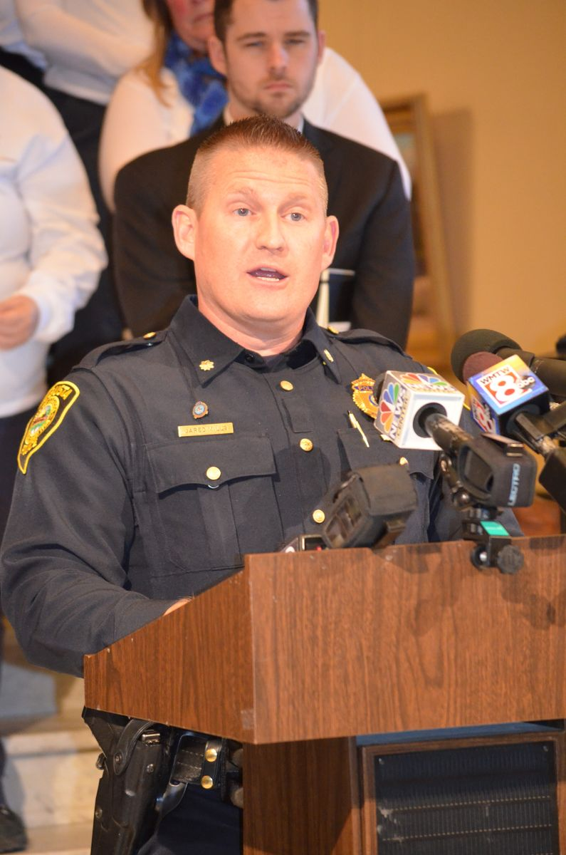 April 5, 2016: Augusta Chief of Police Jared Mills speaking at a State House event