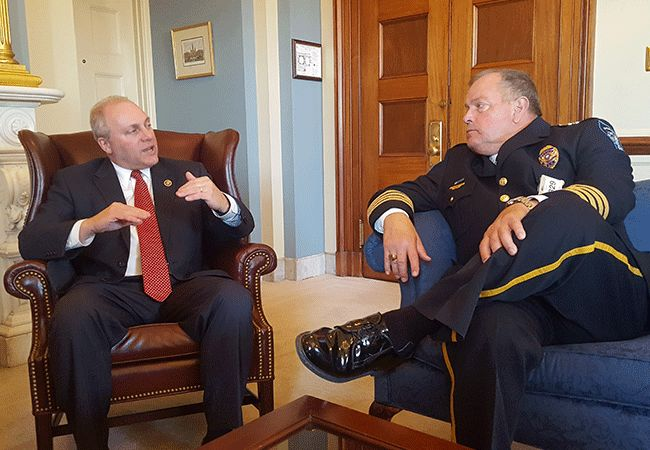 Lake Charles Police Chief Donald Dixon with home state Rep. Steve Scalise (LA-1)