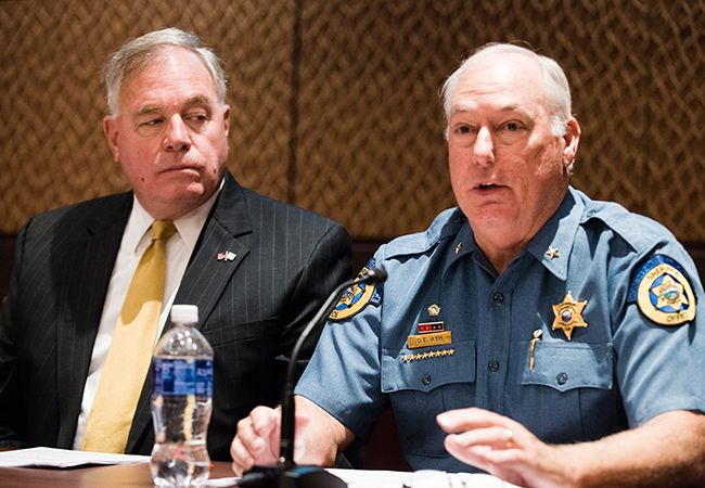 Rear Admiral (Ret.) Robert Besal, U.S. Navy, and Sheriff Don Ash, Wyandotte (KS) Police Department