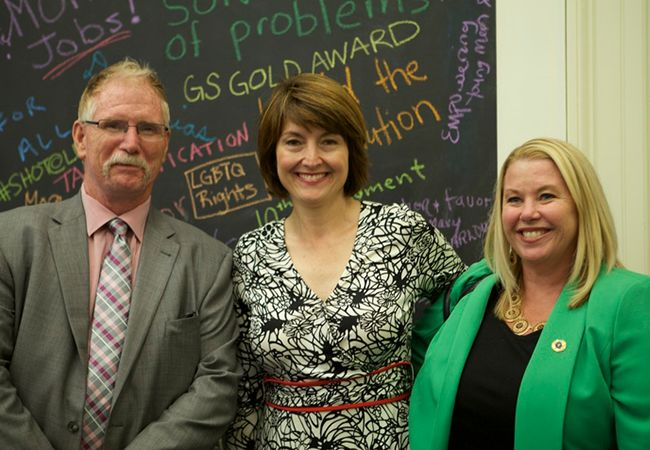Kittitas County (WA) Prosecutor Greg Zempel, Rep. Cathy McMorris Rodgers (WA-5), and Erica Hallock
