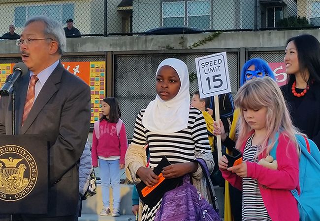 San Francisco Mayor Ed Lee with District 4 Supervisor Katie Tang