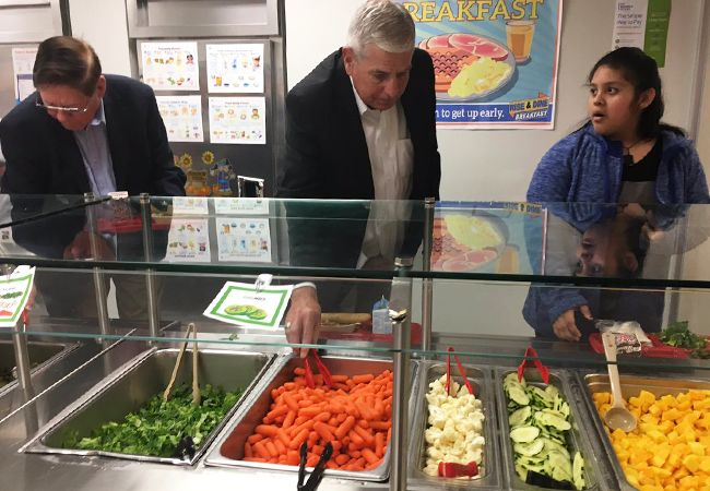 Healthy school meals tour slideshow