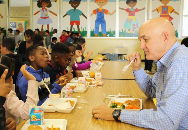 Healthy school meals tour slideshow