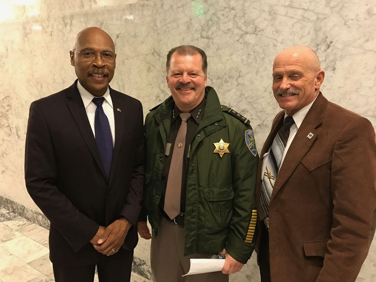 L to R: Rep. John Lovick, Sheriff Rick Scott, and Rep. Tom Dent