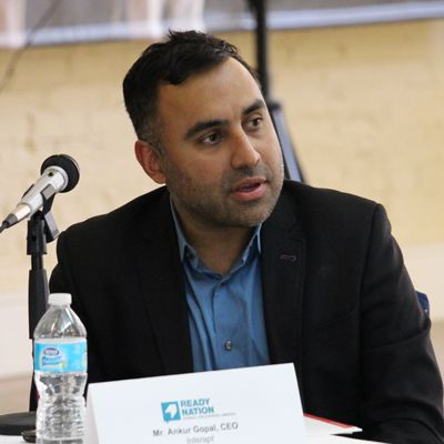 ReadyNation member Ankur Gopal speaking at Council for a Strong America's Moving the Needle event in Kentucky.