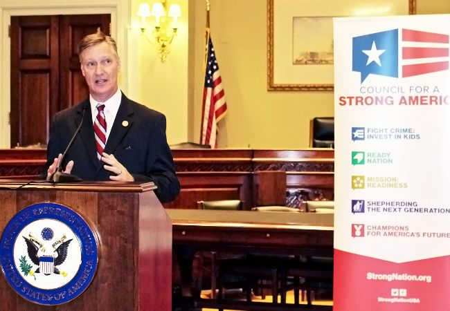 Congressman Steve Stivers speaks during Capitol Hill reception honoring generals in Congress